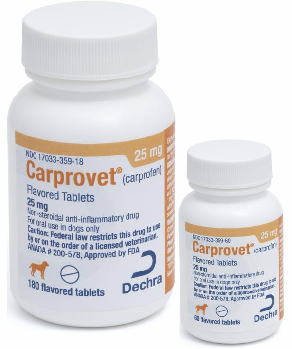 Carprovet® (carprofen) Flavored Tablets 25 mg