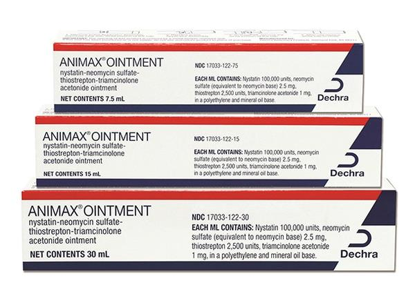 ANIMAX® Ointment (nystatin-neomycin sulfate-thiostrepton-triamcinolone acetonide)