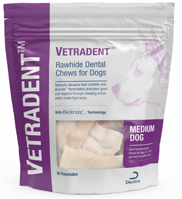 Vetradent™ Rawhide Dental Chews for Dogs (Medium)